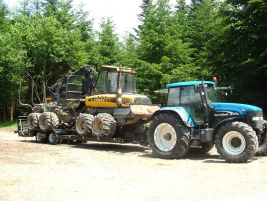 2 Axle Forestry Trailer