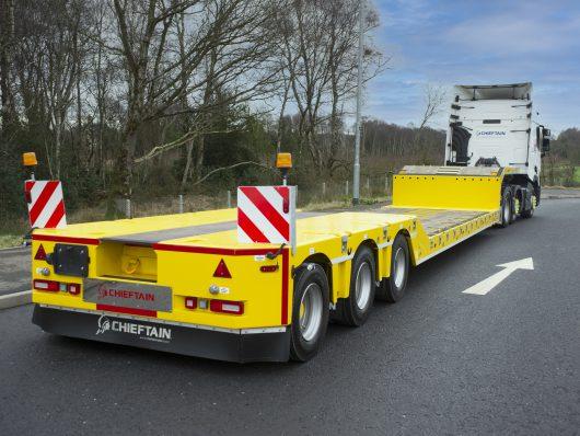 Semi low bed trailer