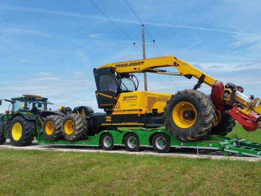 3 Axle Forestry Trailer Low Ride