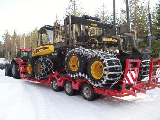3 Axle Forestry Trailer