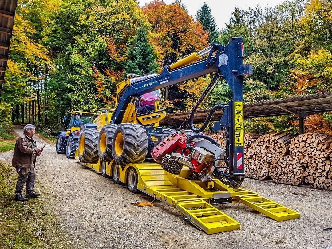 Remolque forestal de carga baja